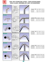 handrails, balustrades, metal building materials