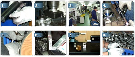 metal handrail production process
